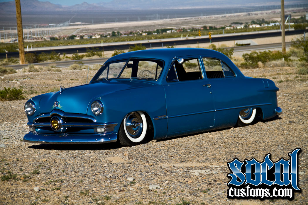 9 socalcustoms com shoebox feature car with model alexanne wagner 1951 Ford Tudor at alyssarenee.co